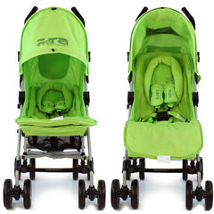 Baby Stroller Zeta Vooom Hearts And Stars Design Complete Lime - Baby Travel UK  - 2