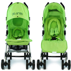 Baby Stroller Zeta Vooom Hearts And Stars Complete Lime Lemon - Baby Travel UK  - 2