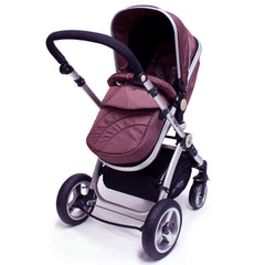 iSafe 3 in 1  Pram System - Hot Chocolate With Carseat, Footmuff & Raincover Package - Baby Travel UK  - 2