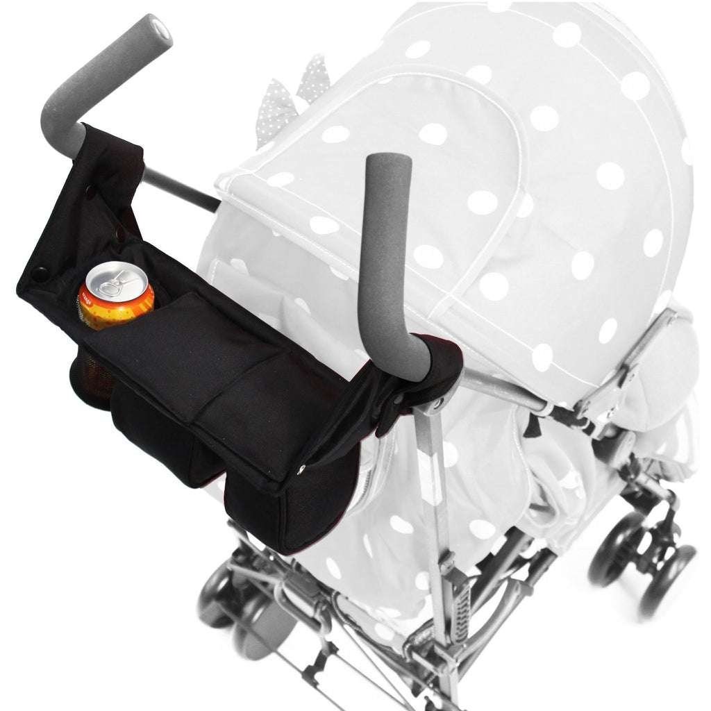 iSafe Pram Parent Console Organiser For Carrera Sport 3 in 1 Carrycot - Baby Travel UK  - 2