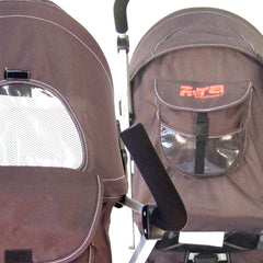 Baby Stroller Zeta Vooom - Hot Chocolate With Free XXL Large Padded Footmuff Pushchair Liner - Baby Travel UK  - 5
