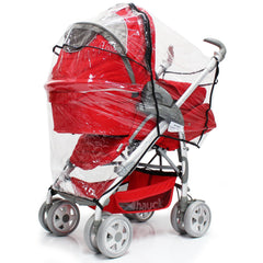Rain Cover For Maxi-Cosi Elea Pebble Travel System (Robin Red) - Baby Travel UK  - 8