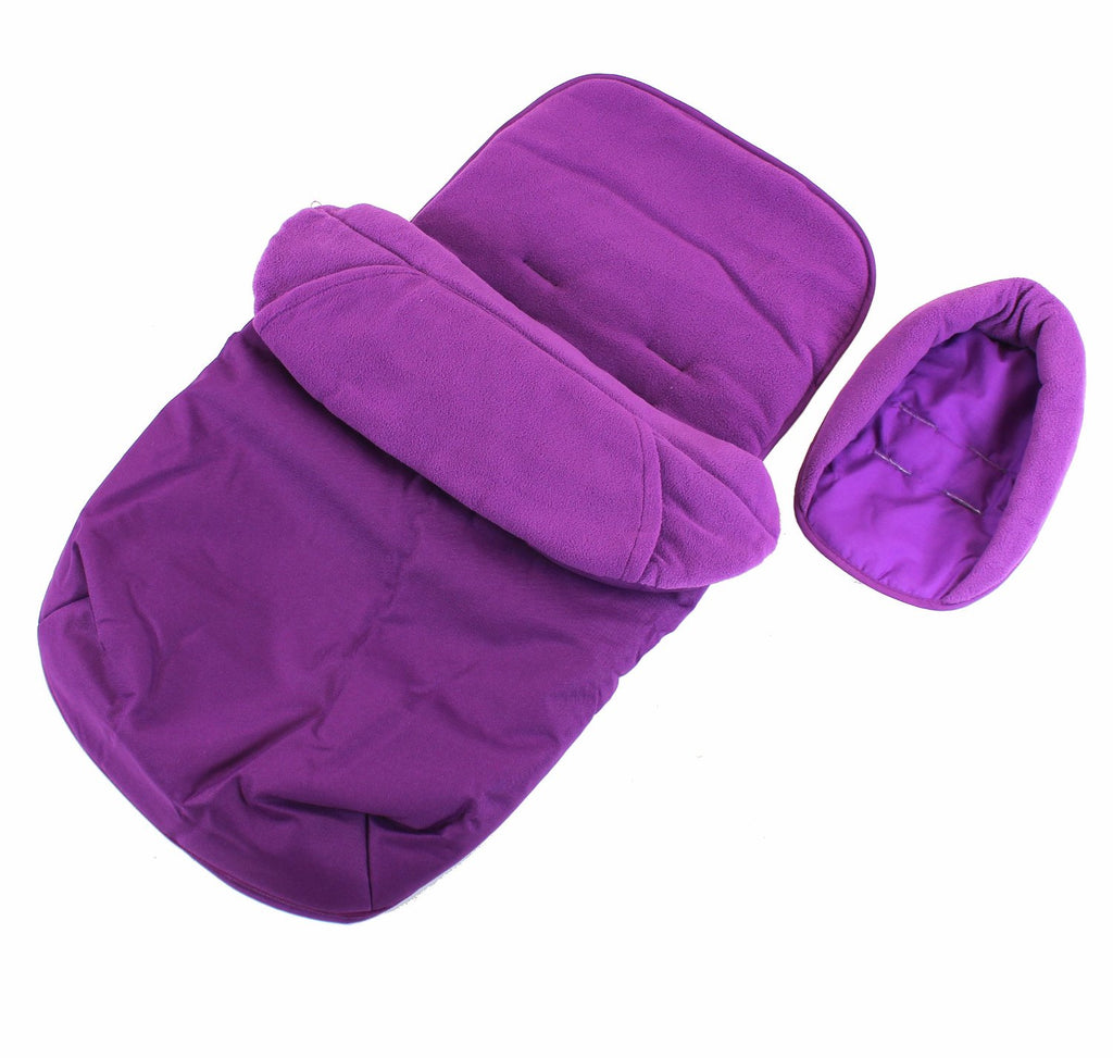 Deluxe Universal Footmuff & Headhugger - Plum Purple - Baby Travel UK  - 1