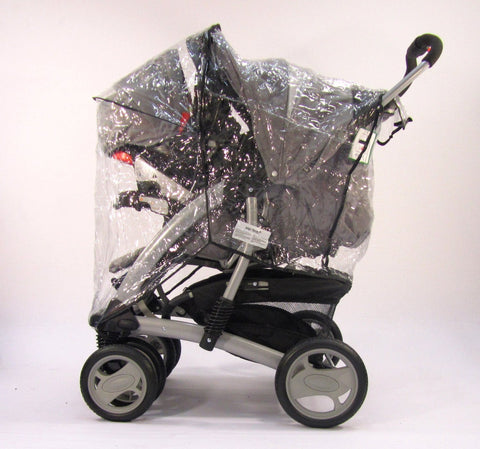 Travel System Zipped Rain Cover For Hauck Shopper 6