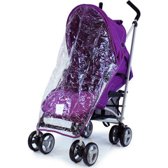 Passeggino buggy ultra leggero ZETA Vooom PRUGNA + para pioggia inclusa - Baby Travel UK  - 4