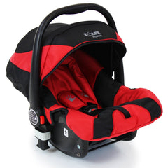 iSafe System - Red Travel Pram System Complete Package With Bedding + Raincover & Footmuff - Baby Travel UK  - 9