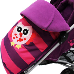 iSafe Buggy Stroller Pushchair Owl & Button Complete Package - Baby Travel UK  - 6