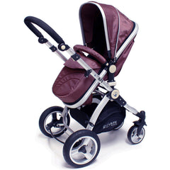iSafe 3 in 1  Pram System - Hot Chocolate Travel System + Carseat + Raincover Package - Baby Travel UK  - 4