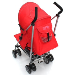 Zeta Vooom Stroller Warm Red Stroller Pushchair Buggy Raincover From Birth - Baby Travel UK  - 3