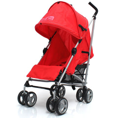 Zeta Vooom Stroller Warm Red + Buggy Organiser + Raincover Large Shade Hood - Baby Travel UK  - 3