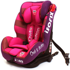 iSafe Isofix Duo Trio Plus Isofix  Top Tether Car Seat Carseat Button Owl - Baby Travel UK  - 3