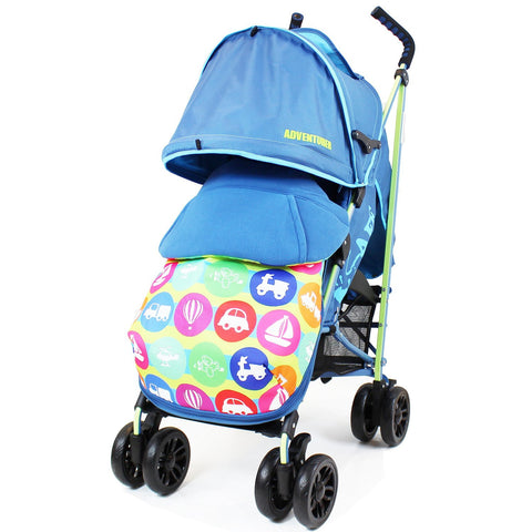 iSafe buggy Stroller Pushchair - Adventurer (Complete With Footmuff, Bumper Bar & Rain cover)