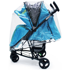 iSafe Visual 3 Rain Cover Stroller three Wheeler Raincover - Baby Travel UK  - 2