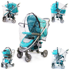 Hauck Malibu Pram 3 In 1 Universal Raincover - Baby Travel UK  - 5