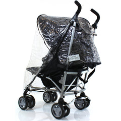 Universal Raincover Silver Cross Pop Pushchair Buggy Ventilated Top Quality - Baby Travel UK  - 3