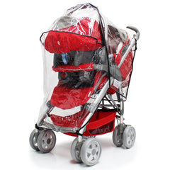Rain Cover For Mamas & Papas Sola² MTX Duo Pushchair Package - Baby Travel UK  - 6