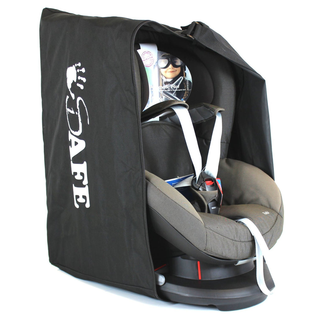 ISafe Universal Carseat Travel Storage Bag For Caretero Spider Car Seat Black Red