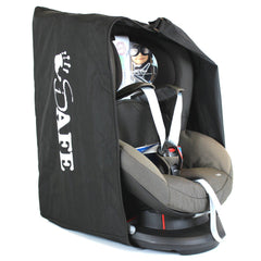 iSafe Universal Carseat Travel / Storage Bag For Kiddy Guardian Pro Car Seat (Racing Black) - Baby Travel UK  - 4