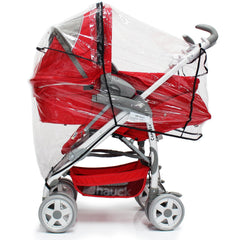 Rain Cover For Hauck Miami 4 Trio Set (Caviar/Silver) - Baby Travel UK  - 7