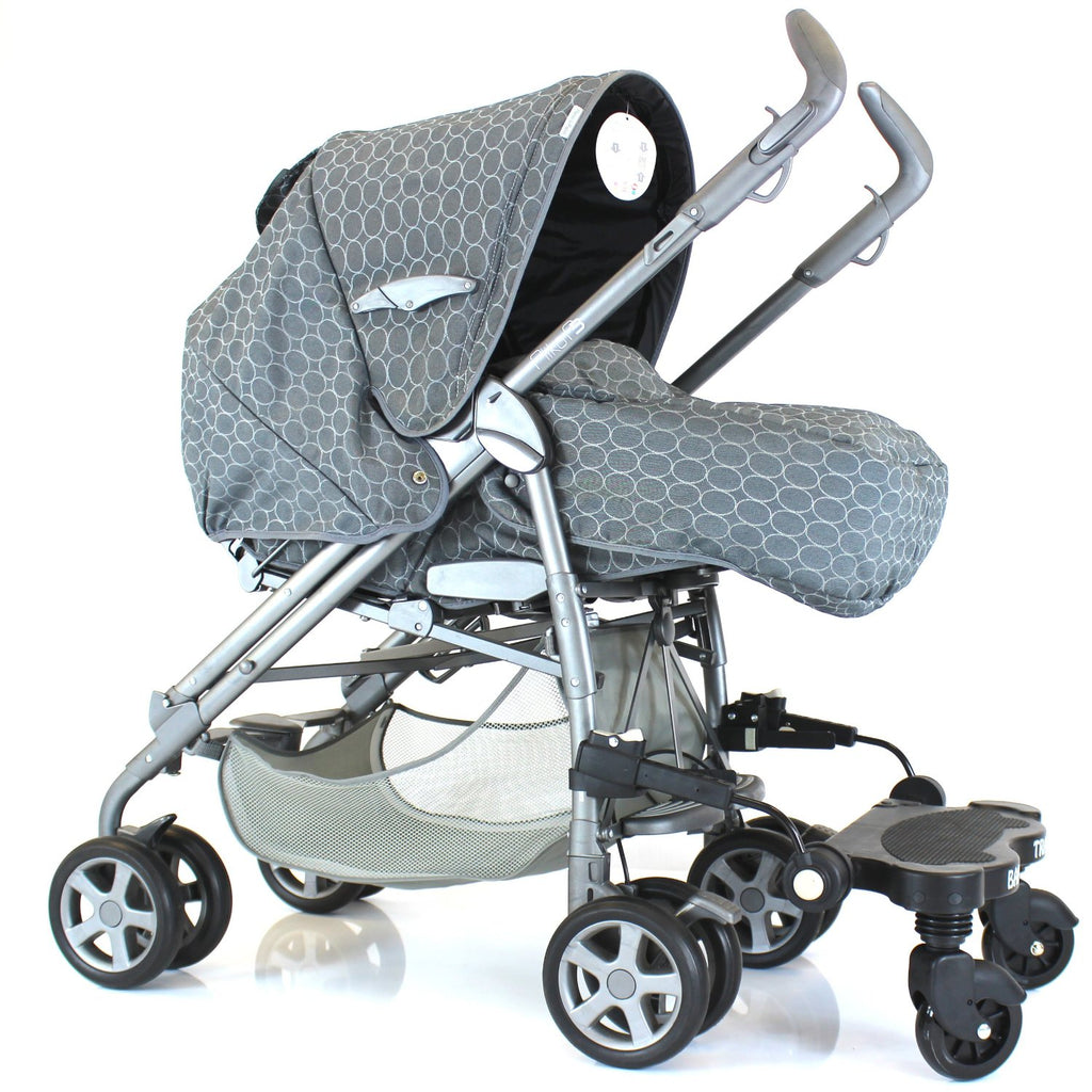 Stroller-pram-board Grey Logo Ride On Buggy Fits Mamas & Papas Pulse - Baby Travel UK  - 1