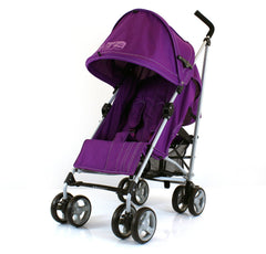 Passeggino buggy ultra leggero ZETA Vooom PRUGNA + para pioggia inclusa - Baby Travel UK  - 1