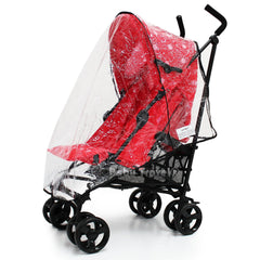 Raincover Throw Over For Chicco Echo Stroller Buggy Rain Cover - Baby Travel UK  - 4
