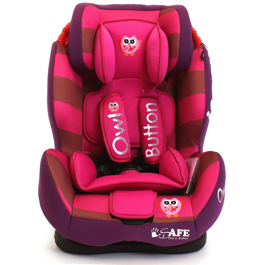 iSafe Isofix Duo Trio Plus Isofix  Top Tether Car Seat Carseat Button Owl - Baby Travel UK  - 1