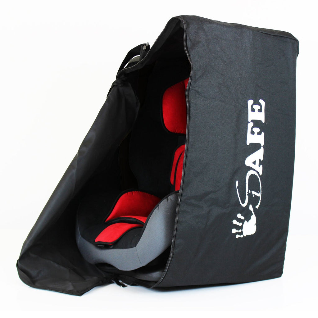 iSafe Universal Carseat Travel / Storage Bag For Axkid Kidzone Car Seat (Black/Tetris) - Baby Travel UK  - 1