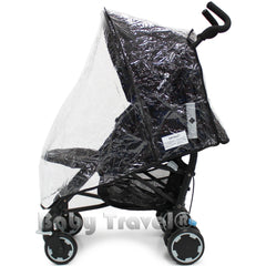 Rain Cover To Fit OBaby Atlas Stroller (Grey Stripe/Grey and Stripe/Lime) - Baby Travel UK  - 3