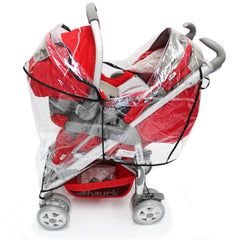 Rain Cover For BabyStyle Prestige 3-in-1 Classic Chrome Travel System - Baby Travel UK  - 7