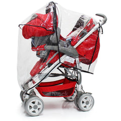 Rain Cover For Mamas & Papas Sola² MTX Duo Pushchair Package - Baby Travel UK  - 3