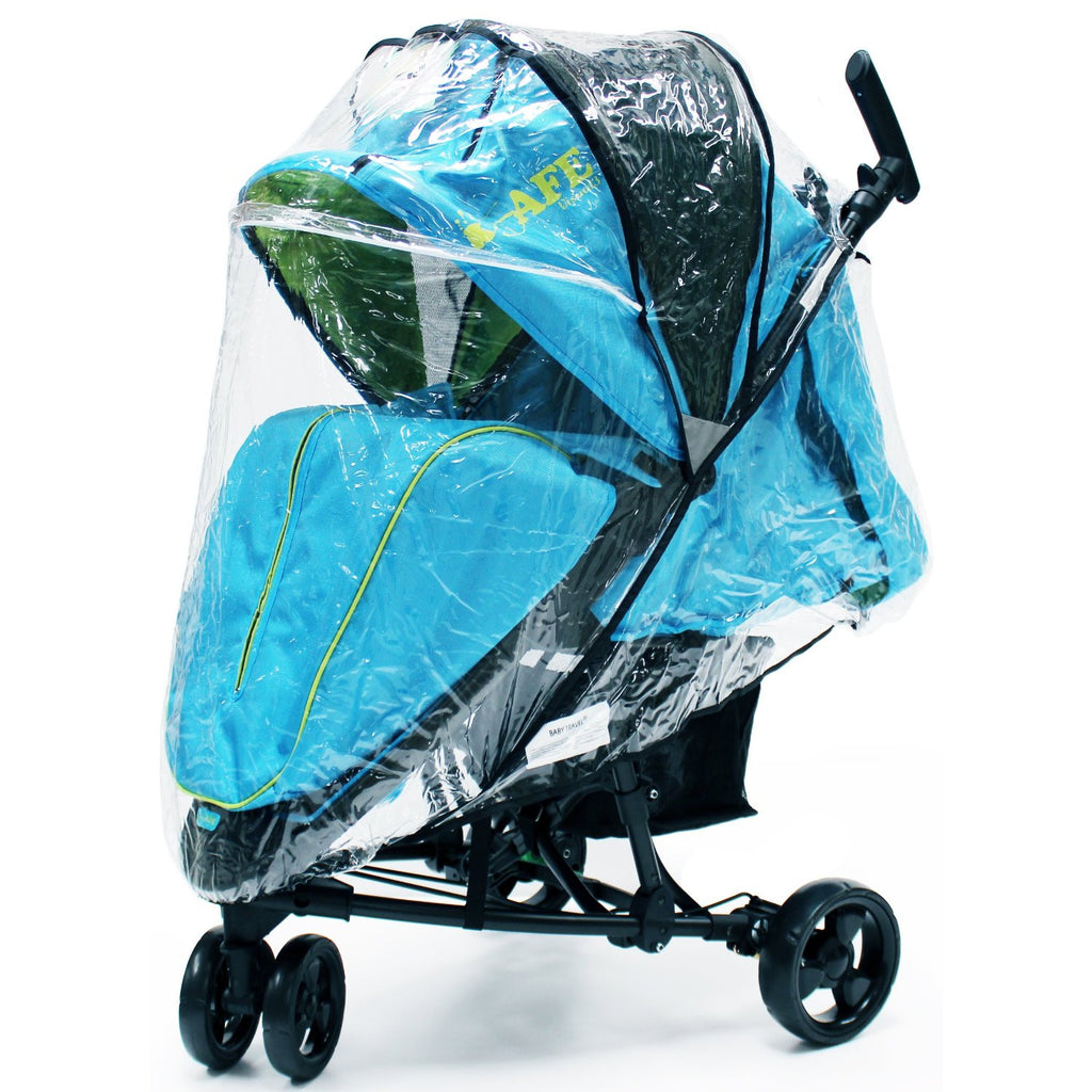 iSafe Visual 3 Rain Cover Stroller three Wheeler Raincover - Baby Travel UK  - 1