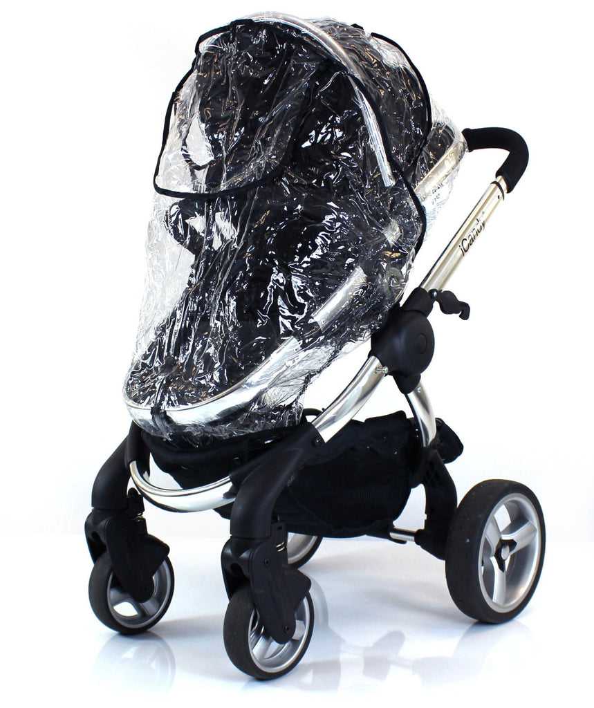 Zipped Raincover Fits Icandy Pear Apple Peach Strawberry Pushchair Carrycot Mode - Baby Travel UK  - 1
