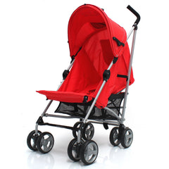Zeta Vooom Stroller Warm Red + Buggy Organiser + Raincover Large Shade Hood - Baby Travel UK  - 2