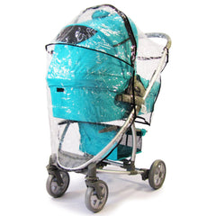 Rain Cover Cover For Hauck Malibu Fits Carseat Carrycot Stroller 3 In 1 - Baby Travel UK  - 6
