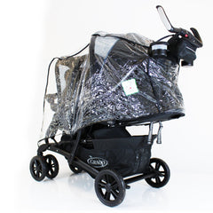 Universal Tandem Pushchair Raincover - Graco Stadium Safety 1st Or Similar Twin - Baby Travel UK  - 2