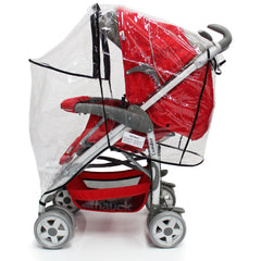 Rain Cover For Mamas & Papas Sola² MTX Duo Pushchair Package - Baby Travel UK  - 7