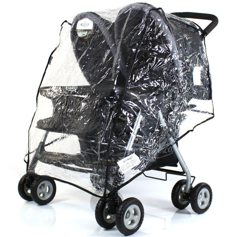 Raincover To Fit maclaren twin techno double buggy