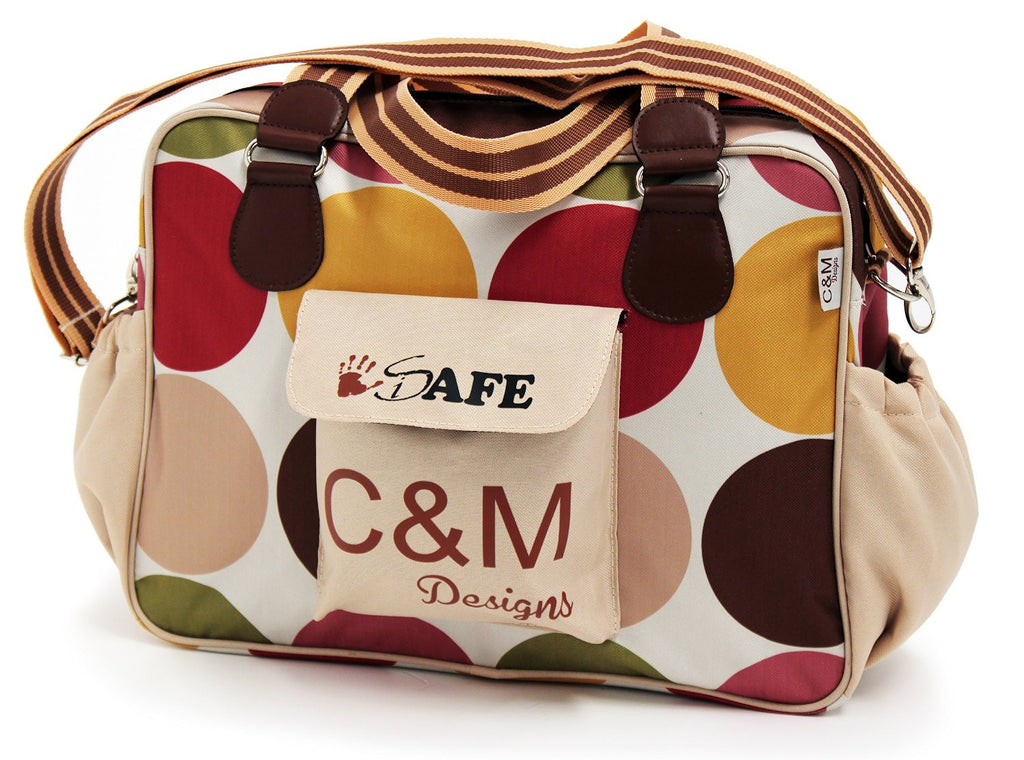 iSafe Changing Bag Luxury Quality - C&M (Design) Designer Baby Nappy Bag - Baby Travel UK  - 1