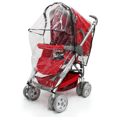 Rain Cover For Maxi-Cosi Elea Pebble Travel System (Robin Red) - Baby Travel UK  - 7
