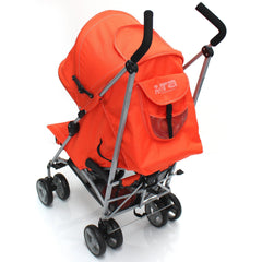 Baby Stroller Zeta Vooom Orange With XXL Large Padded Footmuff Pushchair Liner - Baby Travel UK  - 7