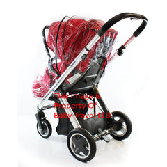 Rain Cover To fit Baby Style Oyster & Oyster Max Stroller Pram - Baby Travel UK  - 4