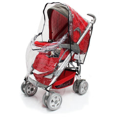 Rain Cover For Maxi-Cosi Elea Pebble Travel System (Robin Red) - Baby Travel UK  - 9