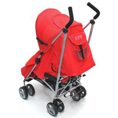 Baby Stroller Zeta Vooom Warm Red +XXL Large Padded Footmuff Liner Buggy Pushchair - Baby Travel UK  - 4