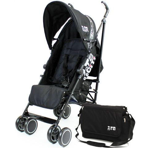 Zeta CiTi Stroller - Black From Birth Complete With Bag