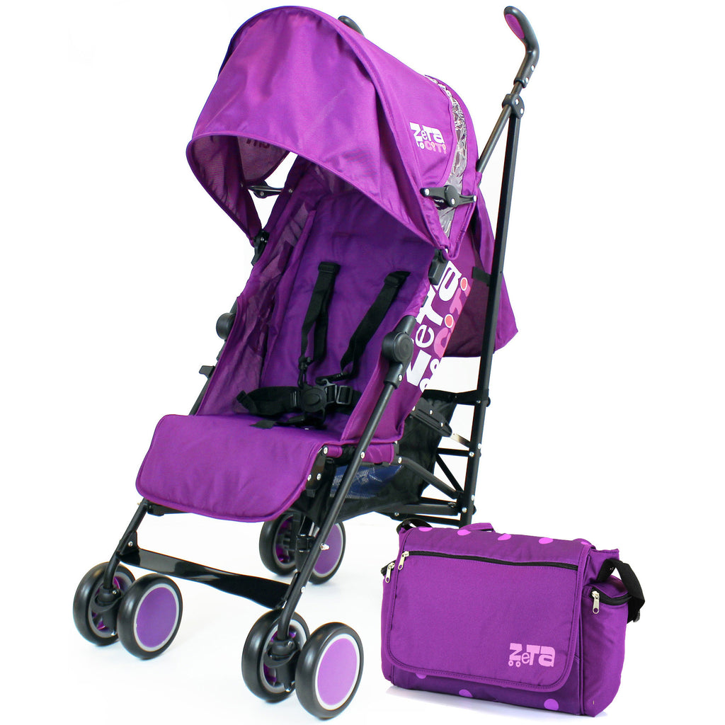 Zeta CiTi Stroller - Plum (Purple) From Birth Complete With Bag - Baby Travel UK  - 1