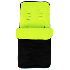 Buddy Jet Foot Muff Lime Suitable For OBaby Atlas Lite Travel System (Lime Stripes) - Baby Travel UK  - 2