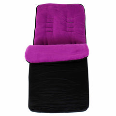 Buddy Jet Foot Muff Plum Suitable For OBaby Atlas Lite Travel System (Purple Stripes) - Baby Travel UK  - 2