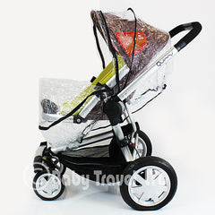 Rain Cover Fit Silver Cross Surf Pram Pushchair & Carrycot Mode Zipped - Baby Travel UK  - 2