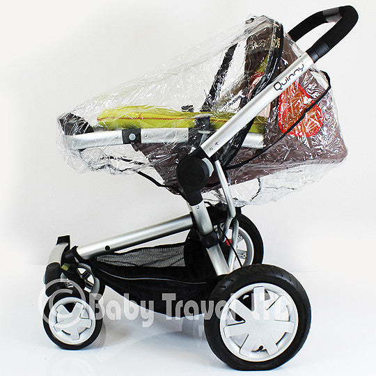 Rain Cover Fit Silver Cross Surf Pram Pushchair & Carrycot Mode Zipped - Baby Travel UK  - 3